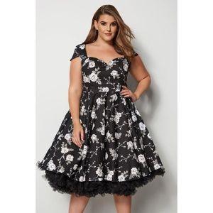 Hell Bunny Natalia Floral Retro Pin Up Dress 3X